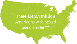 There are 2.1 million Americans with opioid use disorder***